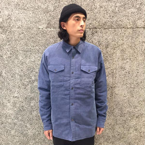 THE QUIET LIFE INSULATOR QUILTED FLANNEL SHIRT BLUE/YELLOW