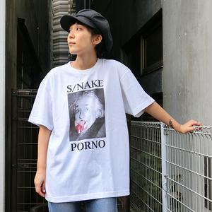 SNAKE PORNO E=MC2 TEE WHITE