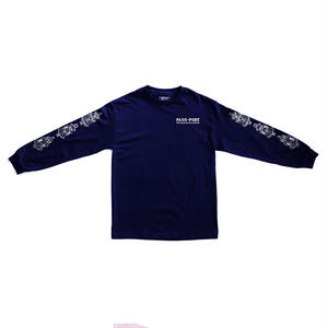 """PASS~PORT """"FOUNTAINS FOR LIFE"""" L/S TEE NAVY"""