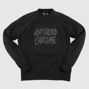 ANTIHERO × CHROME    CREWNECK SWEATSHIRT
