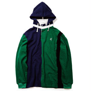 EVISEN STRIPED RUGBY CLUB SWEAT NAVY/GREEN