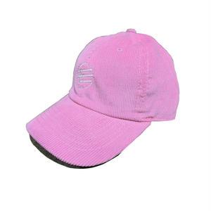 MOMONGA MO LOGO CORDUROY CAP PINK