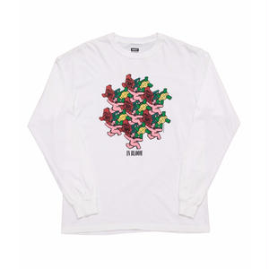 MN07 IN BLOOM LONG SLEEVE T-SHIRTS  WHITE