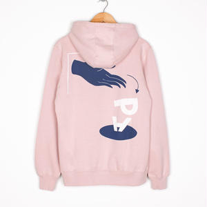 BY PARRA HOODED SWEATER DISCARDED WASHED PINK