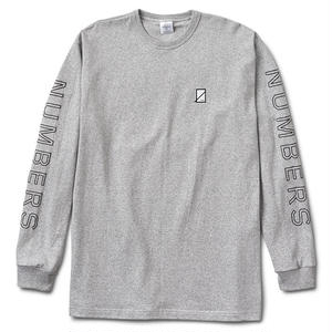Numbers Edition OUTLINE WORDMARK-PREMIUM L/S T-SHIRT VINTAGE ATHLETIC HEATHER