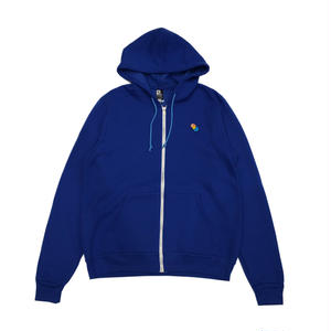 PARK DELICATESSEN 3D FULL ZIP HOODED SWEATSHIRT BLUE