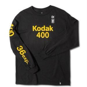 GIRL SKATEBOARDS X KODAK 400 LONG SLEEVE TEE BLACK