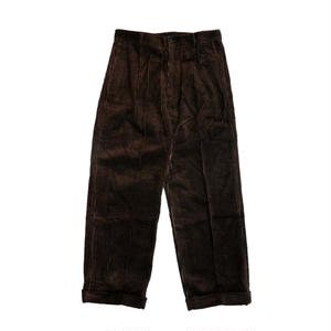 MAIDEN NOIR  PLEATED CORD TROUSERS  BROWN