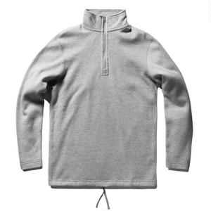 REIGNING CHAMP HALF ZIP LONG SLEEVE HEATHER GREY