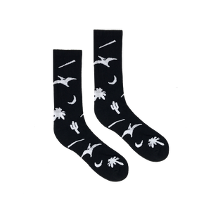 BELIEF PREHISTORIC SOCKS HEATHER BLACK