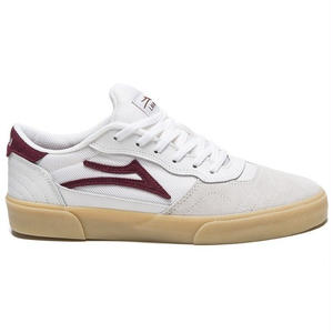 LAKAI CAMBRIDGE WHITE/BURGUNDY