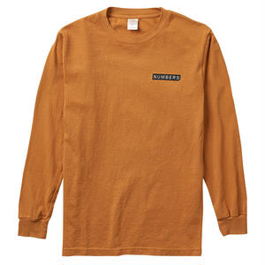 Numbers Edition LOGO TYPE-L/S T-SHIRT CAMEL