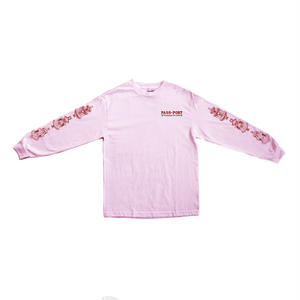"""PASS~PORT """"FOUNTAINS FOR LIFE"""" L/S TEE PINK"""