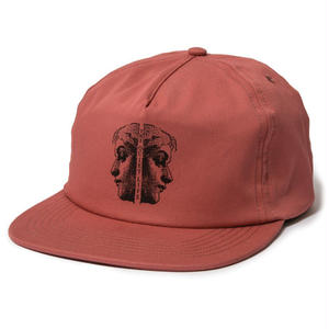 THE QUIET LIFE TWO FACED RELAXED SNAPBACK HAT NAUTICAL RED