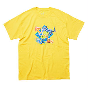 EVISEN SKATEBOARDS KILL PILL TEE YELLOW