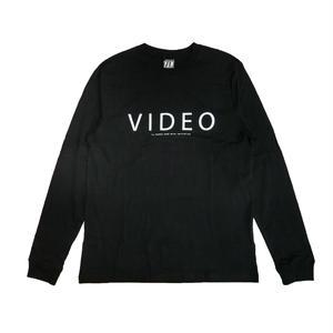 P.A.M VIDEO LONG SLEEVE T-SHIRTS BLACK