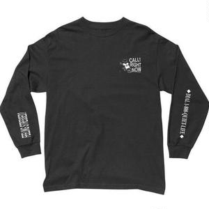 THE QUIET LIFE   STRESSED OUT LONG SLEEVE T   BLACK