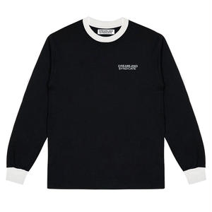 DREAMLAND SYNDICATE CONTRAST CORE LOGO LONGSLEEVE T-SHIRTS BLACK