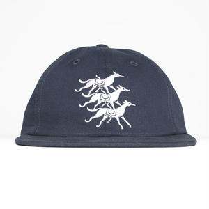 BY PARRA  6 PANEL HAT HORSE CLUB NAVY
