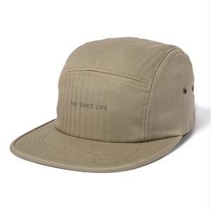 THE QUIET LIFEHERRINGBONE 5 PANEL CAP BARK