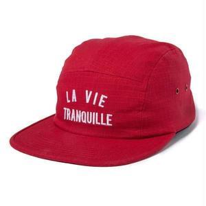 THE QUIET LIFE LA VIE TRANQUIL 5 PANEL CAMPER HAT RED