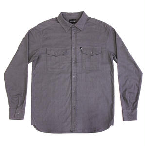 PASS~PORT WORKERS LATE FLANNELETTE SHIRTS GREY