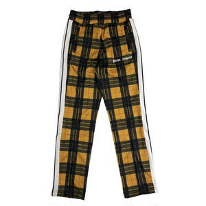 PALM  ANGELS  TARTAN TRACK PANTS   YELLOW