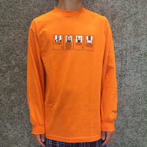 HOTEL BLUE MUGSHOT  LONG SLEEVE TEE ORANGE