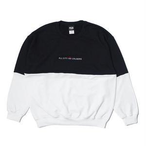 PSCN 2TONE CREW BLACK/WHITE