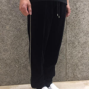 FUTUR INC  VELOUR PANTS BLACK