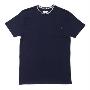 THE QUIET LIFE JACQUARD CREWNECK TSHIRTS NAVY