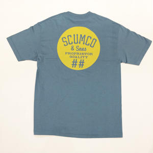 SCUMCO & SONS TSHIRT BLUE/MUSTARD