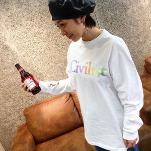 CIVILIST DRINKING LONGSLEEVE WHITE