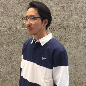 CARHARTT L/S STRIKE RUGBY POLO BLUE/WHITE