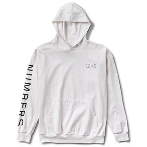 Numbers Edition WORDMARK HOODED JERSEY PULLOVER OFF WHITE