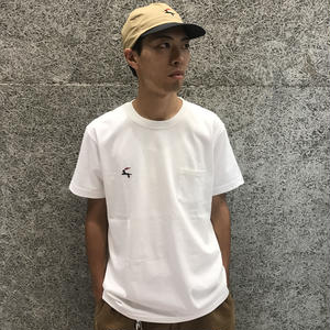 DIASPORA SKATEBOARDS DET POCKET TEE WHITE