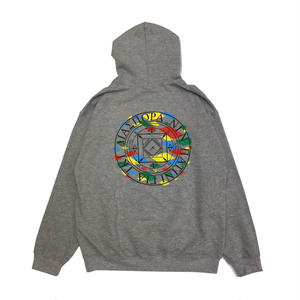 Diaspora Skateboards LJJ MC HOODED SWEAT GREY