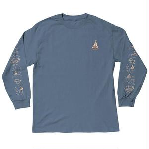 THE QUIET LIFE SAIL LONGSLEEVE TSHIRTS BLUE