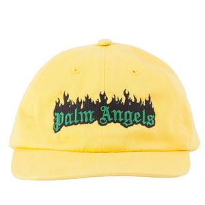 PALM  ANGELS BURNING LOGO CAP YELLOW