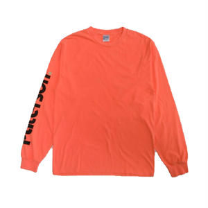 PATERSON LOGO LONG SLEEVE TEE CORAL