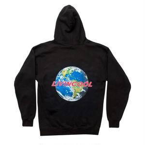 LIVINCOOL WORLD BLACK HOODIE