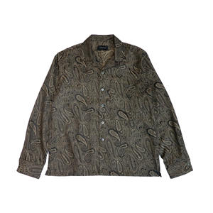 MAIDEN NOIR  PAISLEY LS SHIRT - BROWN