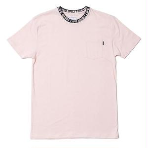 THE QUIET LIFE JACQUARD CREWNECK TSHIRTS PINK