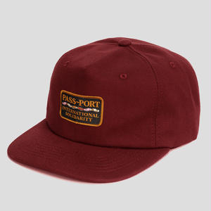PASS~PORT  INTERSOLID CAP MAROON