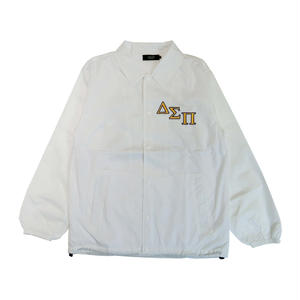 DIASPORA SKATEBOARDS OUTLINE MAGIC CIRCLE COACH JACKET WHITE
