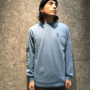 GIRL SKATEBOARDS SANCTUARY L/S TEE SLATE