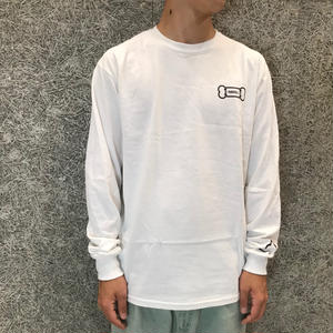 "PARK DELICATESSEN ""DELI DOG"" LONG SLEEVE TEE WHITE"