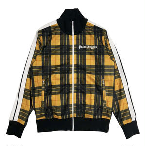 PALM  ANGELS  TARTAN TRACK JACKET   YELLOW