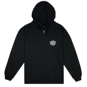 BELIEF 1812© ZIP HOODY BLACK