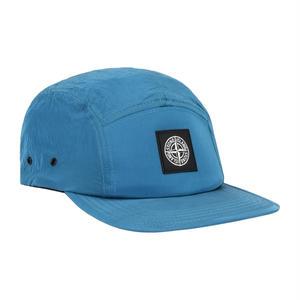 STONE ISLAND NYLON METAL 5 PANEL CAP COBALT BLUE
